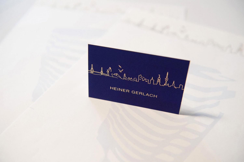 Visitenkarten mit Goldprägung