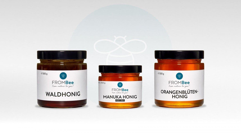 Packaging Design für die Honig-Marke Frombee