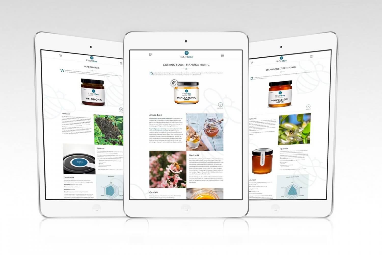 Web Design Produktseiten