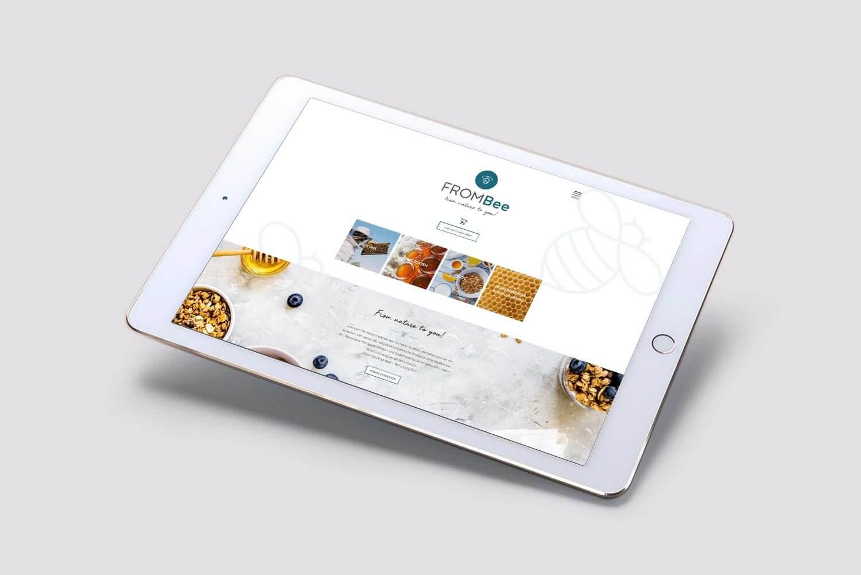 Web-Design und Logo-Design für die Honig-Marke Frombee